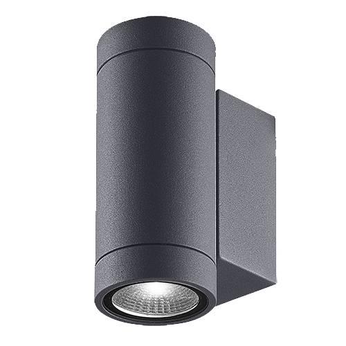 Applique up and down pour éclairer une façade extérieur, une terrasse ou un pool house Luxi 95 Anthracite par Indigo Lighting