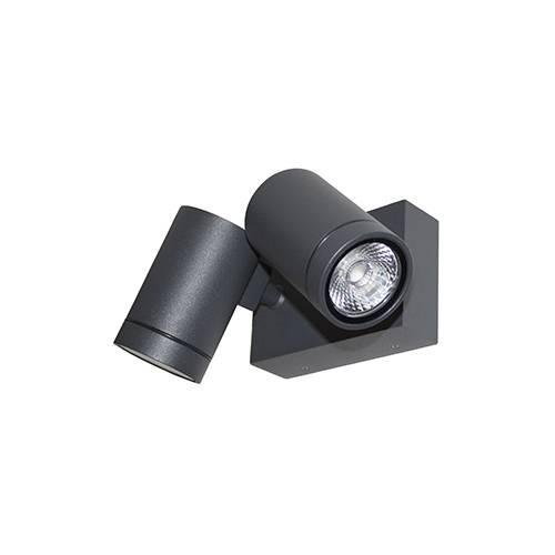 Spot ext rieur double orientable led pour clairage de fa ade de maison gunzy 2s par indigo for Spot de noel pour facade