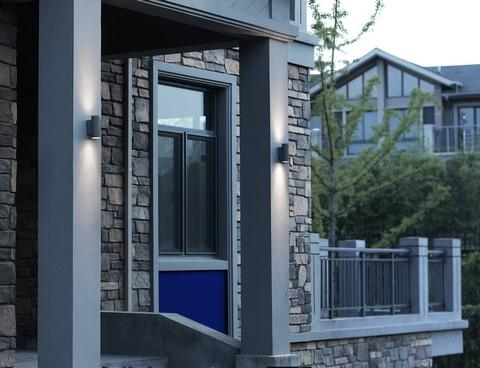 applique murale led pour clairage de fa ade terrasse ou pool house luxi 95 anthracite up. Black Bedroom Furniture Sets. Home Design Ideas