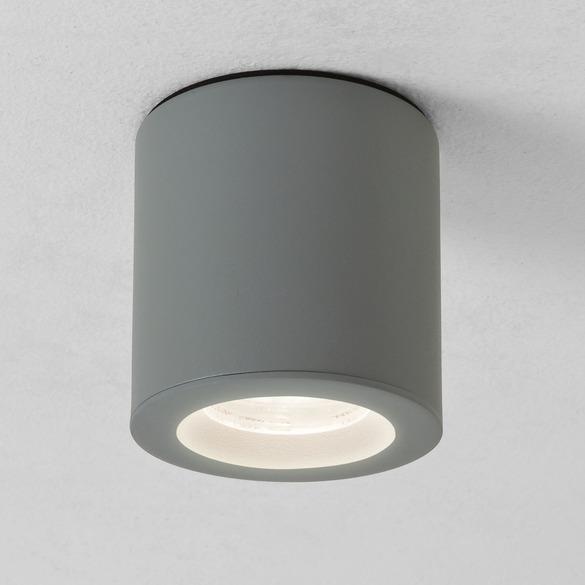 spot tanche apparent pour clairer au plafond dans une salle de bain kos rond blanc mat 69 ttc. Black Bedroom Furniture Sets. Home Design Ideas