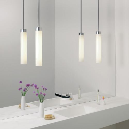 suspension pour salle de bain tanche ip44 classe ii kyoto chrome et verre 339 clairage. Black Bedroom Furniture Sets. Home Design Ideas