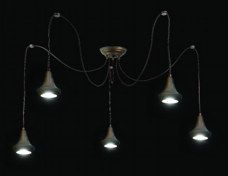 suspension multiple 5 lumi res vintage pour clairer au. Black Bedroom Furniture Sets. Home Design Ideas