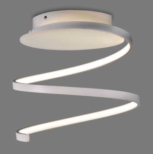 Plafonnier en forme de spirale led blanche de la marque for Interieur a la spirale
