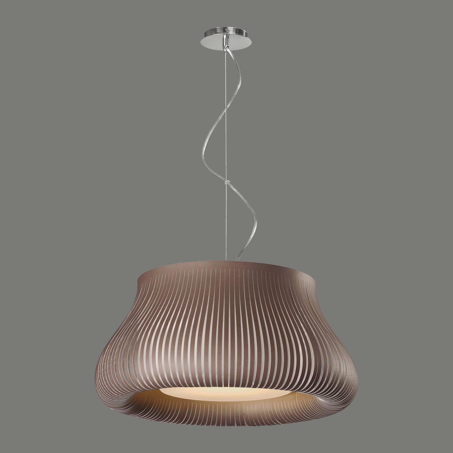 Suspension marron taupe pour clairage de salle manger - Suspension pour salon ...