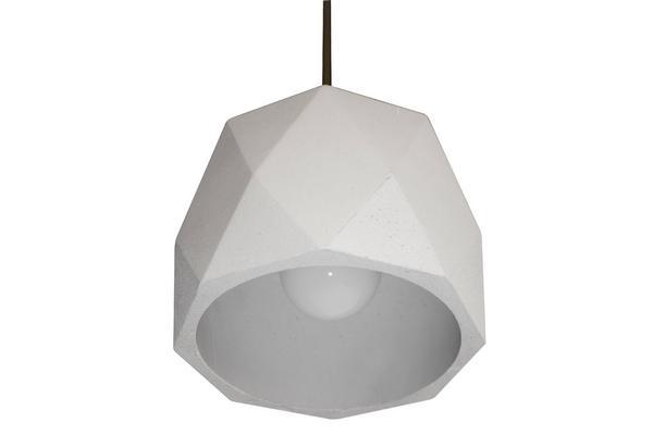 Suspension ciment design pour éclairer au dessus d'un comptoir de cuisine Sandy3 Ciment par Indigo Lighting