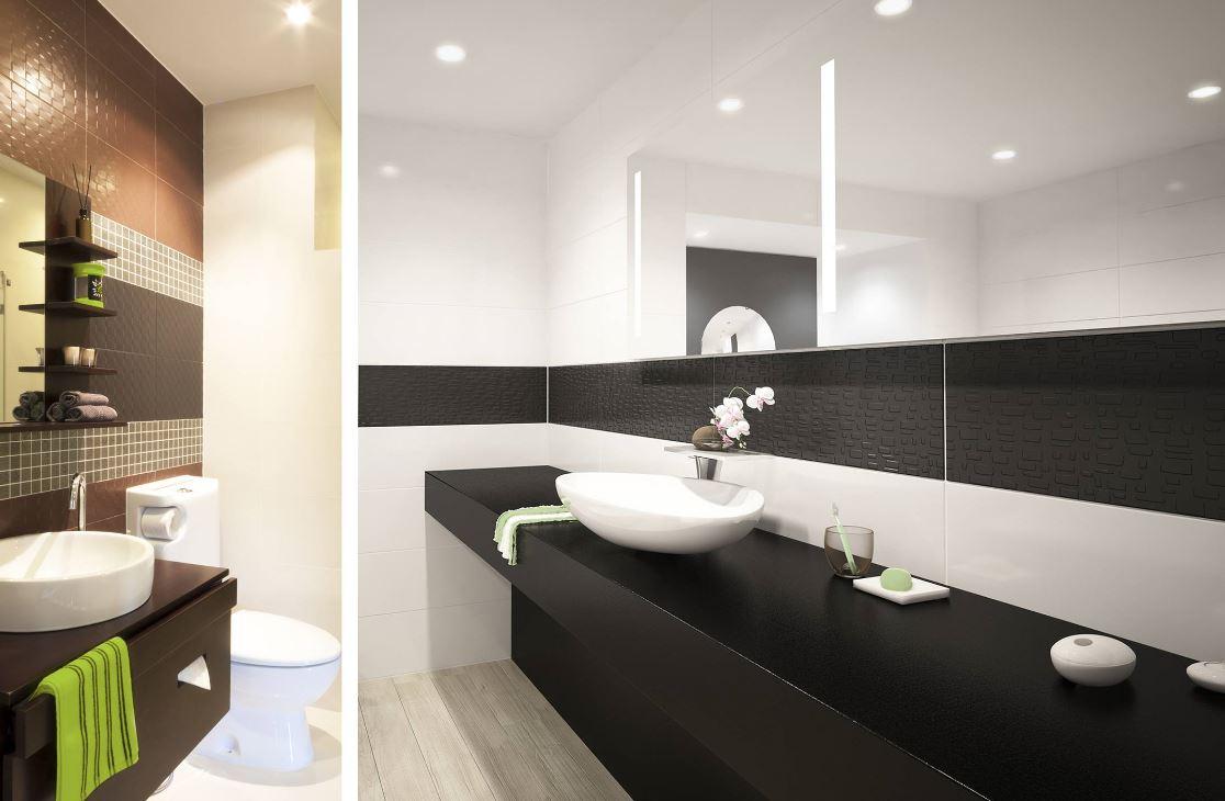 spot tanche led carr pour clairer une cabine de douche dans une salle de bain hd1014s. Black Bedroom Furniture Sets. Home Design Ideas