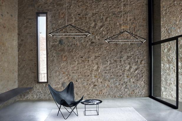 suspension g om trique rectangulaire led pour clairer. Black Bedroom Furniture Sets. Home Design Ideas