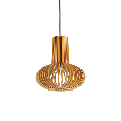 suspension en bois naturel pour clairer au dessus d 39 une. Black Bedroom Furniture Sets. Home Design Ideas