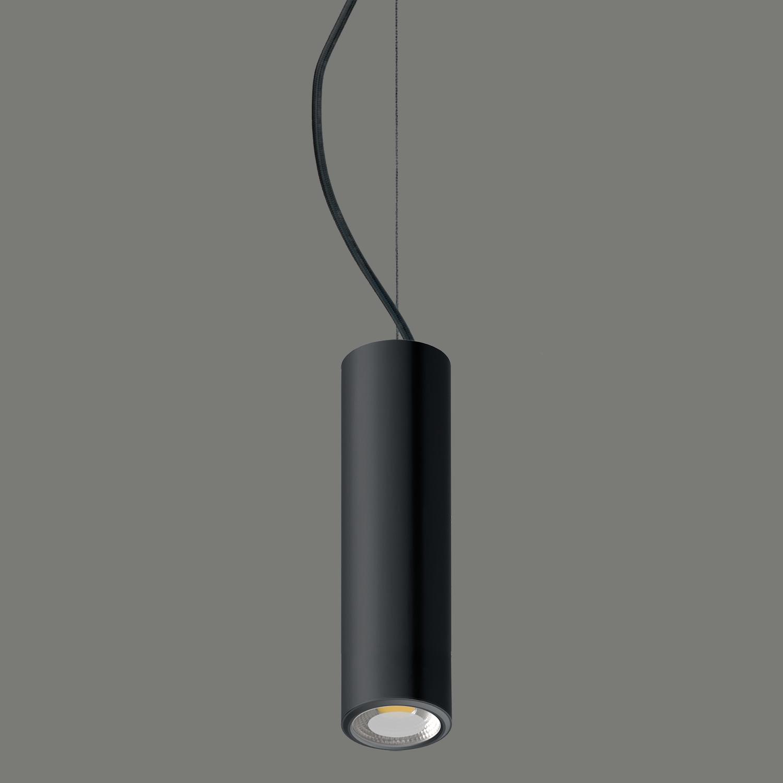 Suspension tube Noire mat pour éclairer un dessus de comptoir pour un magasin