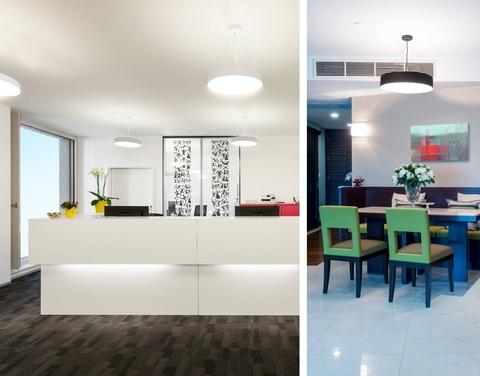 suspension dessus de comptoir pour magasin luka led noire 169 clairage professionnel. Black Bedroom Furniture Sets. Home Design Ideas