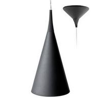 Suspension conique Noire pour éclairer un dessus de comptoir