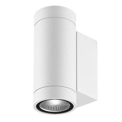 Applique blanche up and down pour éclairer une façade extérieur de maison, terrasse ou pool house Luxi 95 par Indigo Lighting