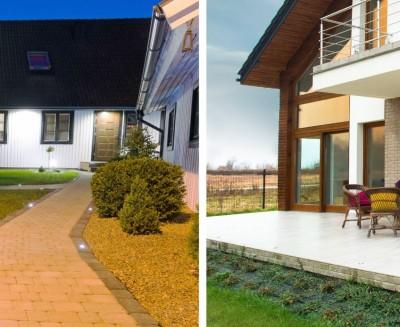 Spot à encastrer au sol en 220v pour éclairer un pool house ou une terrasse PURE55 LED 3W par Indigo Iighting