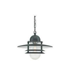 suspension pour extérieur pour éclairer une terrasse ou une pergola Oslo Noire par Norlys Eclairage