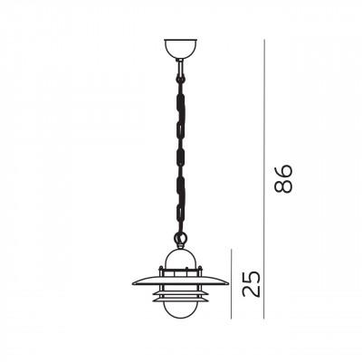 Suspension pour extérieur et bord de mer pour éclairer une terrasse ou une pergola Oslo Galvanisée par Norlys Eclairage