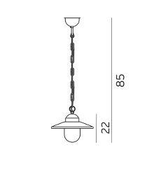 Suspension pour extérieur et bord de mer pour éclairer une terrasse ou une pergola Karlstad Galvanisé par Norlys Eclairage