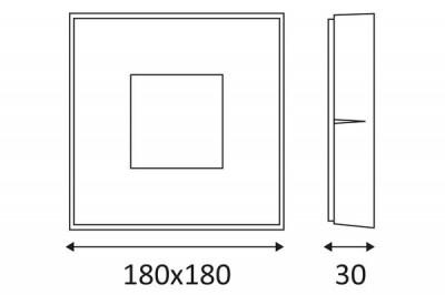Dimensions du plafonnier Skip LED