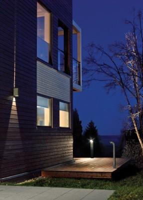 Applique exterieur murale éclairage haut et bas pour façade LILLEHAMMER LED gris clair par Norlys Eclairage