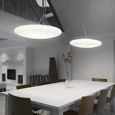 suspension blanche en verre pour clairer au dessus d 39 une. Black Bedroom Furniture Sets. Home Design Ideas