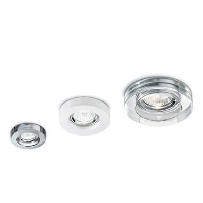 Spots en verre blanc pour éclairage de salle à manger, salon,montée d'escalier, vendus par 3 BLUES par Ideallux