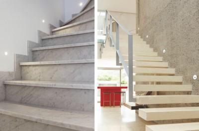 spot encastr mural rond led pour clairer une mont e d 39 escalier eva 4w blanc mat par indigo. Black Bedroom Furniture Sets. Home Design Ideas
