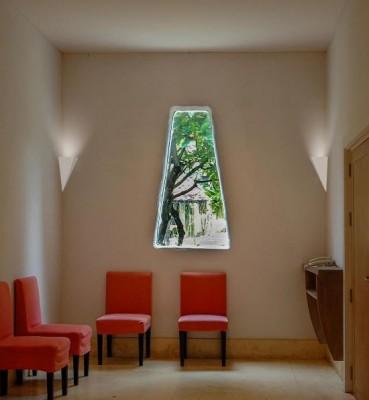 Applique d'angle en plâtre pour éclairer une montée d'escalier ou une salle à manger La 2396 par Belfiore Italie