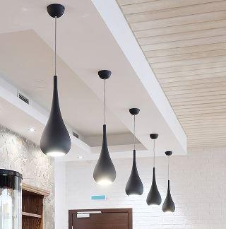 Suspension goutte grand modèle pour salle à manger et salon drop 52 cm noire 95€