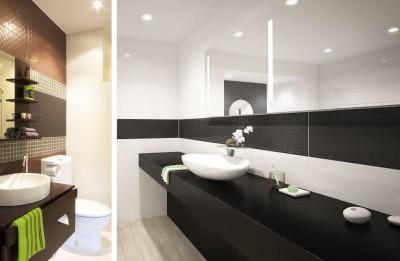 Spot étanche à led GU10 pour éclairer une cabine de douche dans une salle de bain HD1014Rond230 blanc Conforme RT2012