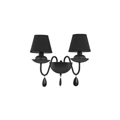 Applique murale Noire abats jour noirs pour éclairer une salle à manger ou un salon Blanche AP2 par Ideallux