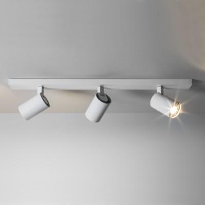 Réglette de 3 spots blanc mat  pour éclairer une salle de bain IP44 Ascoli triple par Astrolighting
