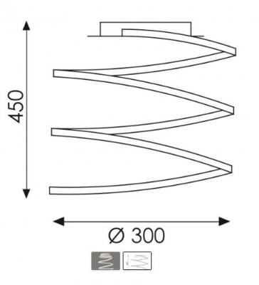 Plafonnier spirale à led blanc mat 50w diamètre 30cm de la marque ACBiluminacion Belenus