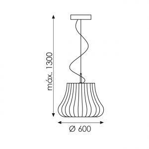 Dimension de la suspension Nanouk de la marque ACB ILUMINACION
