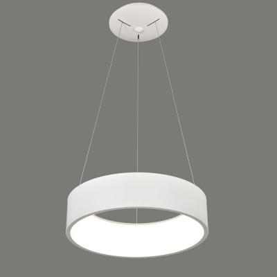 Suspension blanche avec led intégrée pour éclairage de salle à manger et salon