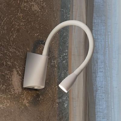 applique liseuse led pour clairage de t te de lit dans une chambre coucher goose blanche. Black Bedroom Furniture Sets. Home Design Ideas
