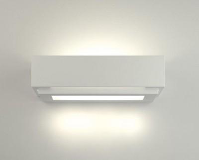 Applique en plâtre à led pour éclairer une salle à manger ou un salon La 2340 par Belfiore Italie