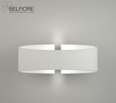 Applique en plâtre à led pour éclairer une salle à manger ou un salon La 2614 par Belfiore Italie