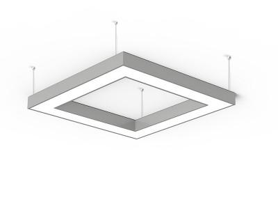 Suspension carré à led noire pour éclairer un dessus de table de salle à manger ou salon Alberta square par BPM Lighting