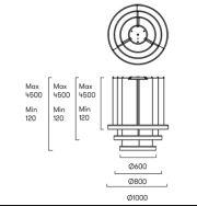 Suspension avec 3 anneaux de led pour plafonds hauts de la marque Grok By Leds C4 CIRC