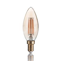 Ampoule à filament en forme de flamme pour éclairer un lustre de chambre à coucher