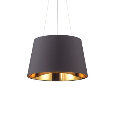 Suspension noire et dorée diamètre 50cm pour éclairer au dessus d'une table de salle à manger ou salon Nordique SP4 par Ideallux 159€