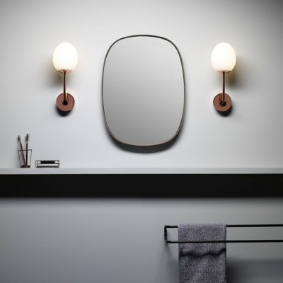 Applique murale finition cuivre pour éclairer une salle de bain Kiwi Wall light Copper IP44 par Astrolighting