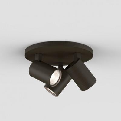 plafonnier rond avec spots pour clairage de salle de bain. Black Bedroom Furniture Sets. Home Design Ideas