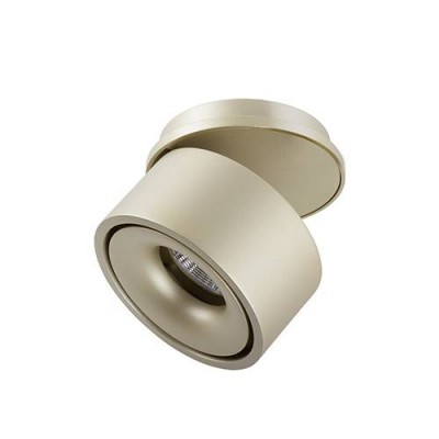 Downlight semi encastré rond orientable laiton brossé 13W 3000W CLIC par Indigo Lighting